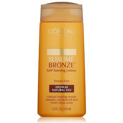 L'Oreal Paris Sublime Bronze Self-Tanning Lotion, Medium Natural Tan 5 (Bronze Self Tanning Lotion)