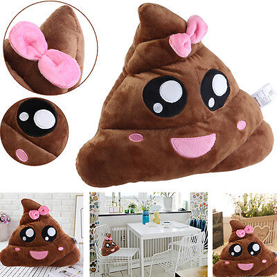 35CM Poo Pillow Emoji Emoticon Soft Cushion Stuffed Plush Xmas Birthday Toy Gift