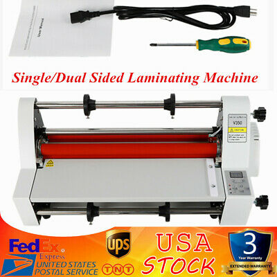 13 A3 Roll Laminator Speed Adjustable Four Roller Hot Cold Laminating Machine