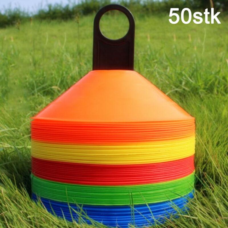 50 Stück Markierungsscheiben Markierungshütchen Markierungsteller Pylonen