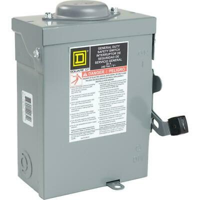 Square D Non Fusible Safety Switch Outdoor General Duty 30 Amp 240 Volt 2 Pole