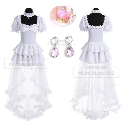Super Mario Costume Accessories (Super Mario Yurei Hime Ghost Princess Cosplay Dress Accessories Full Outfit)