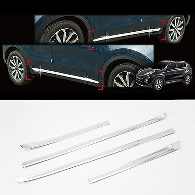 Chrome Side Skirt Molding Trim 4p For 2017 2020 Kia Sportage
