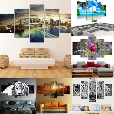 Artwork Home Decor - 5pcs Unframed Modern Art Oil Painting Print Canvas Picture Home Wall Room Decor