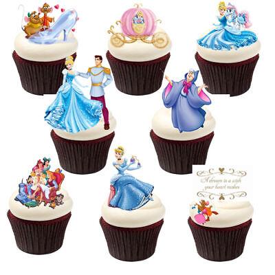 Prinzessin Cinderella Eßbar Tortenbild Party Deko Muffinaufleger Cupcake neu dvd (Cinderella Cupcake Kuchen)