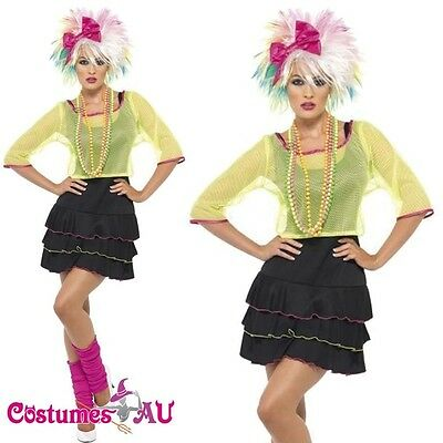 Madonna 1980s 80s Pop Star Diva Cyndi Lauper Fancy Dress Hens Party Costume (1980s Pop Stars)