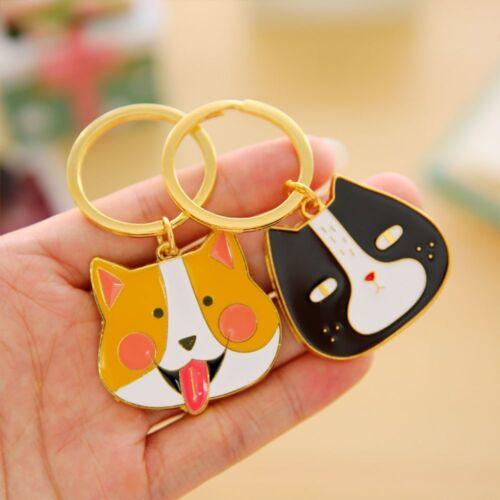 Dog Cat Animal Pattern Key Ring Key Chain Key Holder Handbag