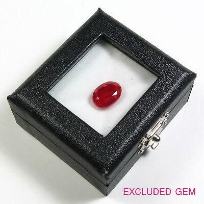 Free Ship Top Glass Gemstones Diamond Display Box White Black 2x2.25 Inch No.5
