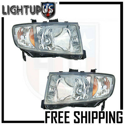 Headlights Headlamps Pair Left right set for 06-08 Honda Ridgeline Pickup