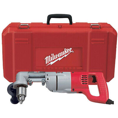 Milwaukee 12 D-handle Right Angle Drill With Case 3107-6 Reconditioned