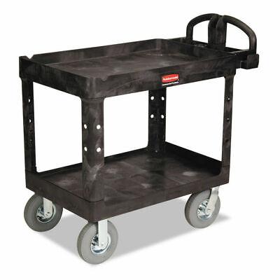 Rubbermaid Commercial 450088bk Heavy-duty 2-shelf Utility Cart - Black New