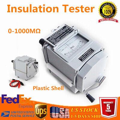 Usa 1000m 1000v Megger Meter Insulation Tester Resistance Meter 120 Rpm 2019