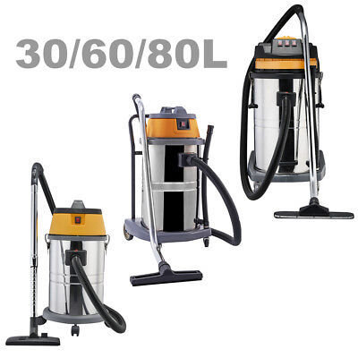 Wet Dry Vacuum Cleaner Commercial Powerful Stainless Steel Hoover 30l 50l 80l