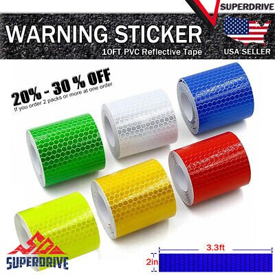 3.3ft Car Truck Reflective Safety Warning Conspicuity Tape Film Sticker Decal