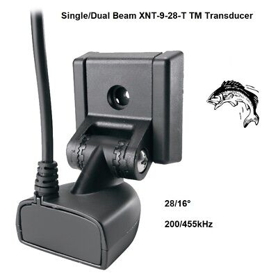 Humminbird Single (Humminbird Single/Dual Beam XNT-9-28-T Transom Mount Transducer 200/455kHz  )