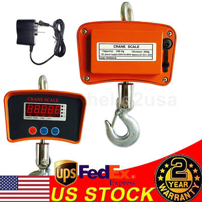 Heavy Duty 500kg0.5kg Digital Hanging Scale Portable Industrial Crane Scale Lcd