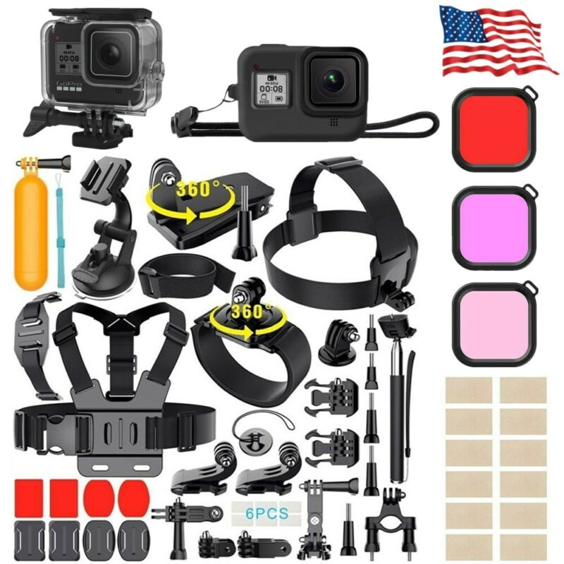 Monopod Floating Mount Accessories For GoPro Hero 9 8 7 6 5 4 3 2 Camera Cover