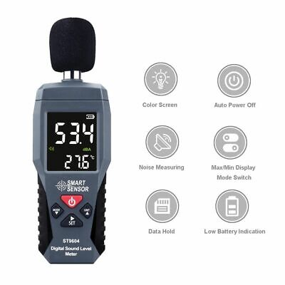 Digital Sound Level Meter Lcd Db Decibel Monitor Audio Meter Test 30-130db Noise