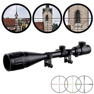 Neu 6-24x50AOE Zielfernrohr Leuchtabsehen Mil Dot Riflescope 20mm Montagen