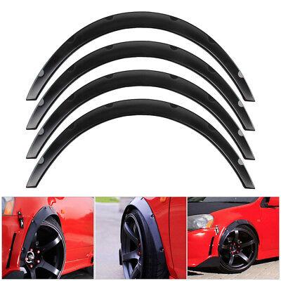 US 4pc Car SUV Tire Fender Flares Wheel Eyebrow Stripe Protector Trim Set Black