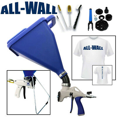 Sharpshooter 2.1 Drywall Texture Hopper Gun Wstand Rebuild Kit Brushes Shirt