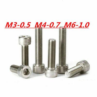 M3 M4 M6 304 Stainless Steel Allen Hex Socket Cap Head Screws Bolts Din912