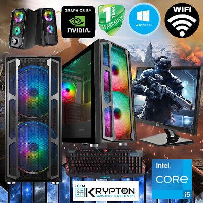 ULTRA Gaming PC Bundle Intel Core i5 16GB 240SSD+1TB Win10 GTX 1050...