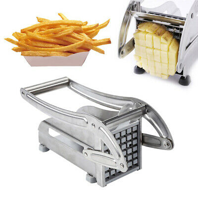 1 Blade Stainless Steel French Fry Cutter Potato Vegetable Slicer Chopper Dicer
