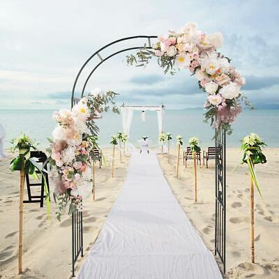 Metal Garden Rose Arch Flower Climbing Plant Archway Wedding Decor UK