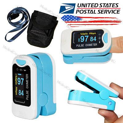 Us Seller Oled Finger Tip Pulse Oximeter Blood Spo2 Oxygen Pulse Heart Ratecase