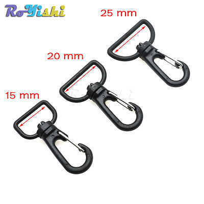 Plastic Swivel Snap Hooks for Bag Belts Straps Keychain Clasp Webbing Keychain Plastic Snap Bag