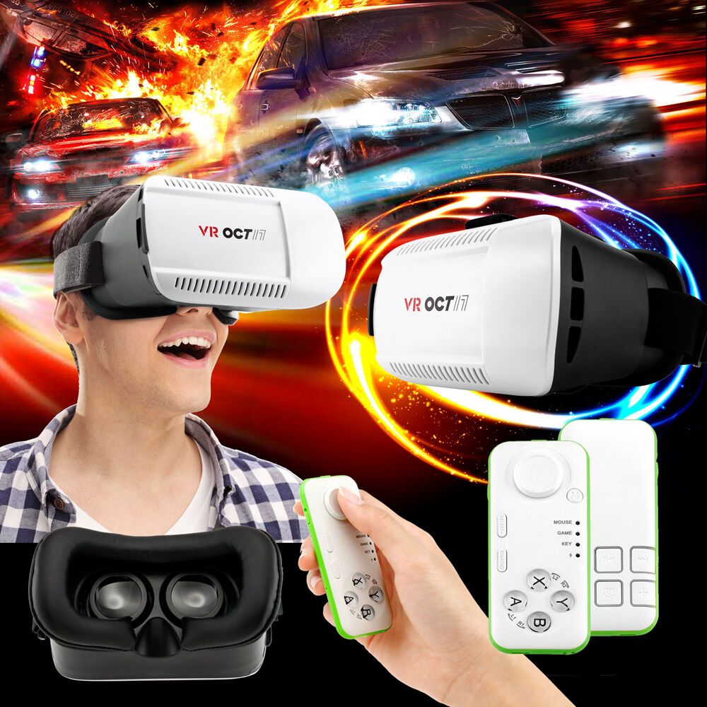 Virtual Reality Vr Headset 3d Glasses With Remote For And...