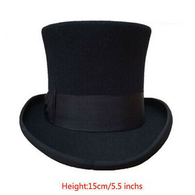 Vintage Wool Victorian Mad Hatter Top Hat Vivi Performing Cap 5
