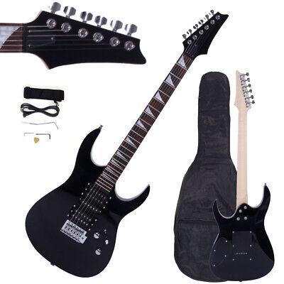 New Professional Electric Guitar +Guitar Bag & Accessories Black