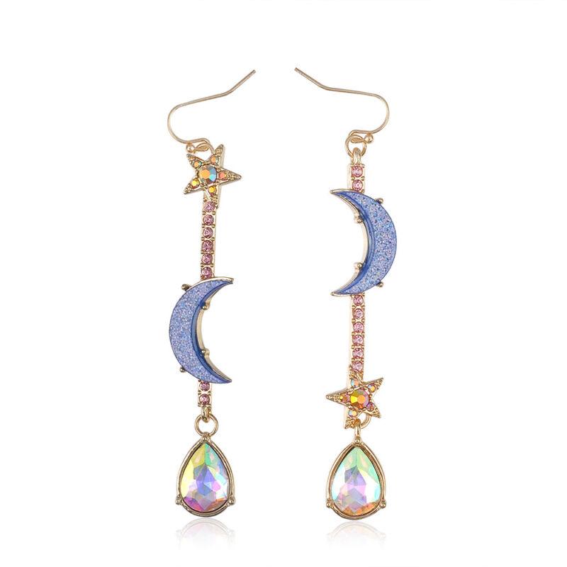 Sailor Moon Drop Earrings Stars Tassel Long Dangle Earrings