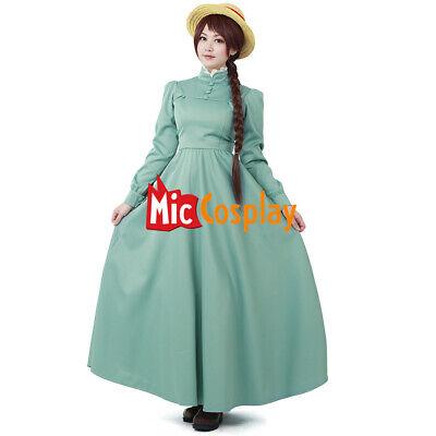 Howl's Moving Castle Sophie Hatter Dress Cosplay Costume Women Girl