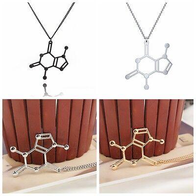 1Pc Fashion Charm Molecule Biochemistry Biochem Science Pendant Chain Necklace