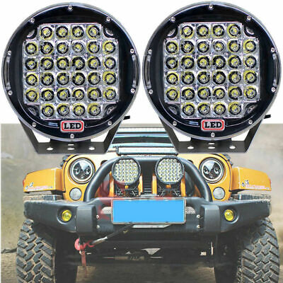 """2x 96W 9"""" Round Cree LED Driving Spot Lights UTE Car Truck SUV Off-Road Vehicle"""