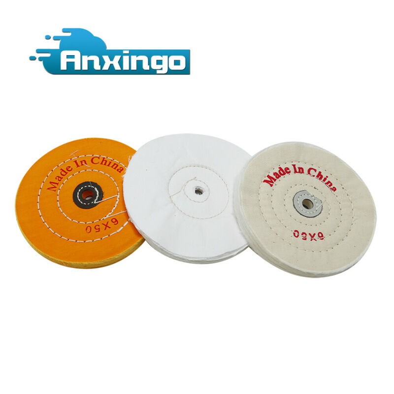 3pcs 6 Inch Buffing Polishing Wheel 1/2 Inch Arbor Hole for Bench Grinder Buffer