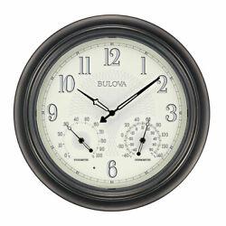 Bulova Clocks Weather Master Thermometer and Hygrometer Wall Clock (Open Box)