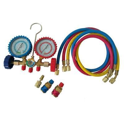 Hvac R12 R22 R134a R404a Ac Refrigerant Manifold Gauge Kit W 60 Charging Hose