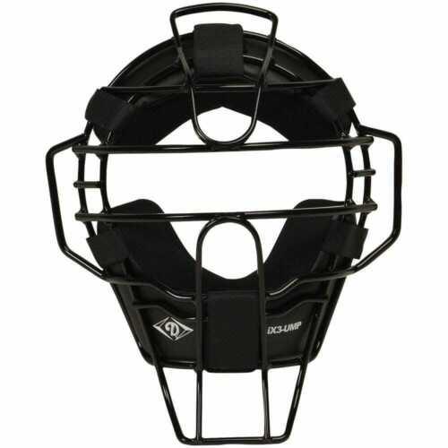 Diamond IX-3 Baseball Umpire Face Mask - Black