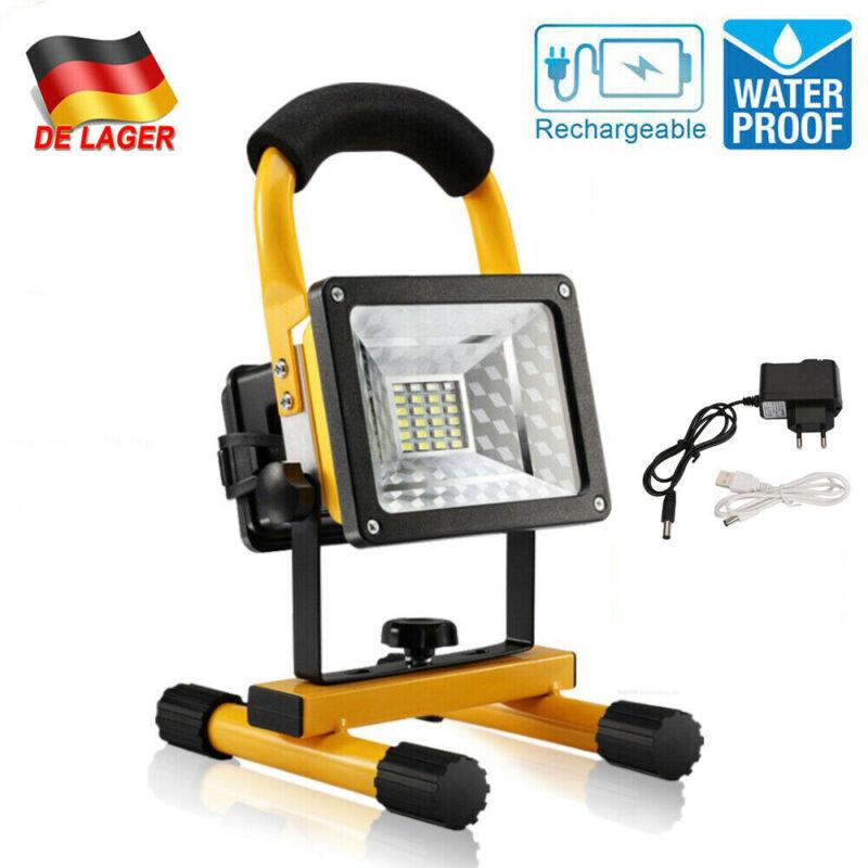 COB LED Strahler Arbeitsleuchte Baustrahler Akku Flutlicht Arbeitsleuchte 30W DE