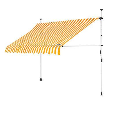 B-Ware Klemmmarkise Gelb/Weiß 250cm