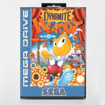 Dynamite Headdy Sega Mega Drive Game with Box