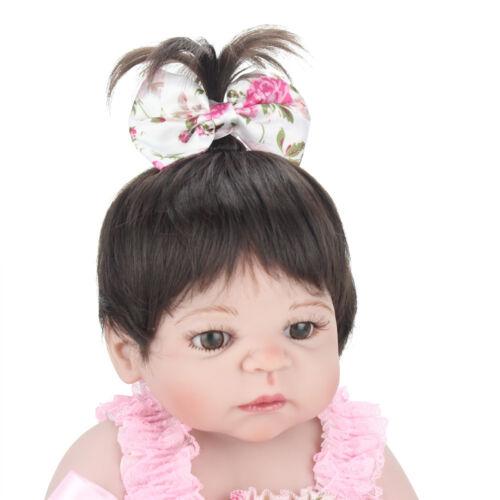 22'' Reborn Baby Dolls Realistic Newborn Babies Full Vinyl Silicone Girl Doll US