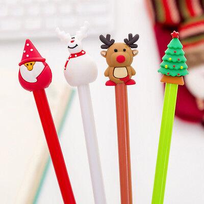 Christmas Pens (Kawaii Christmas Reindeer Santa Claus Gel Pens Kids Office School Writting)
