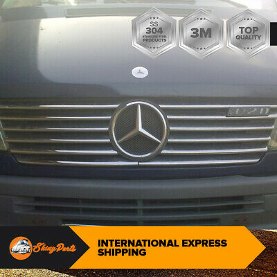 Mercedes Sprinter W901 95-2000 Frontgrill Styling Covertrim S. Stahl Chrom 12PCS