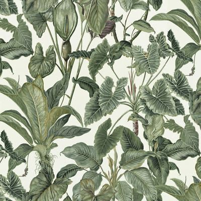 Erismann Paradiso Wallpaper Jungle Green Leaves Paradise Tropical Feature Vinyl (Jungle Vinyl Wallpaper)