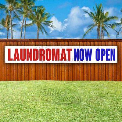 Laundromat Now Open Advertising Vinyl Banner Flag Sign Large Huge Xxl Size